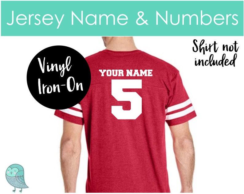 6ceabae66cc Football Jersey Numbers   Names Baseball Heat Transfer