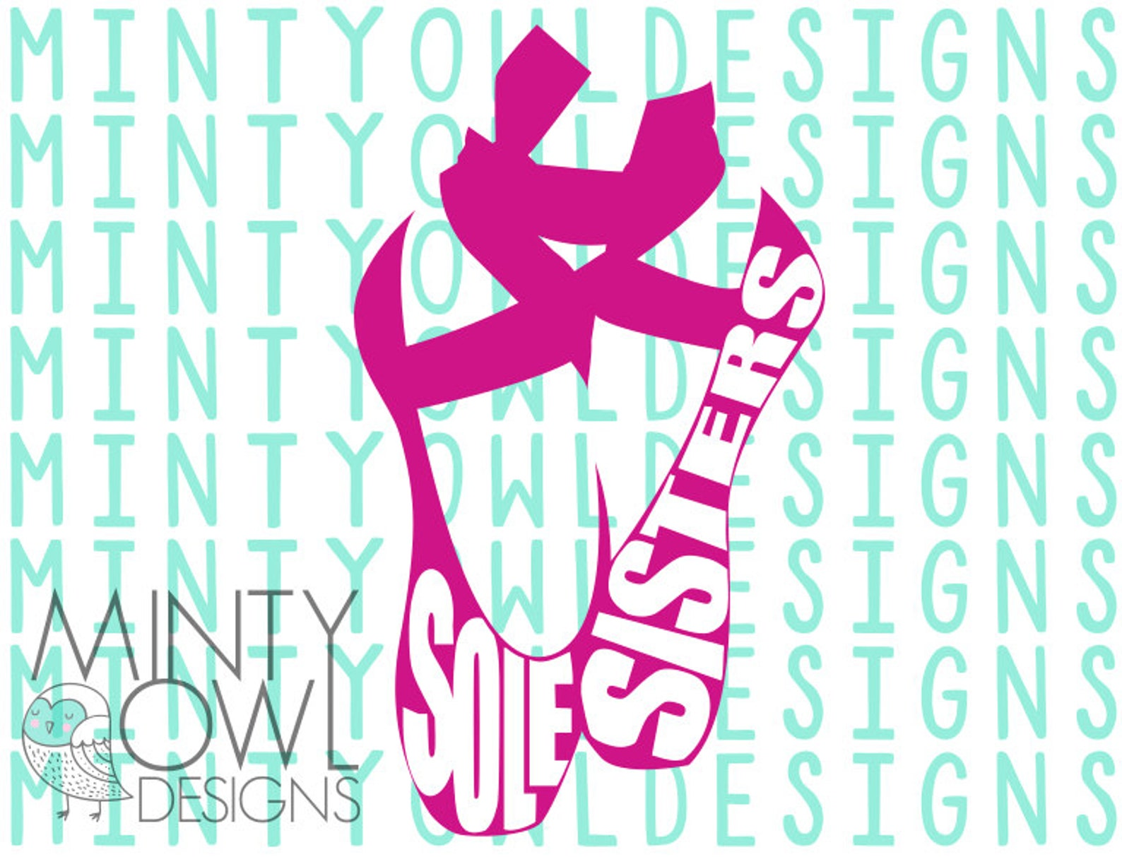 svg cut file - cutting files - ballerina shoes - sole sisters - dance - i love dance - dance life - ballet - cricut - silhouette