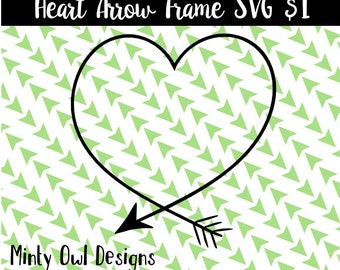 Cricut SVG - Heart Arrow Frame SVG Cut File - Arrow - Tribal - Boho - Wall Decor - Cutting Files - Silhouette