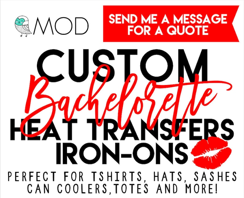 Custom Iron On Decals - Bachelorette Party - Heat Transfers - Gold Foil -  Gold Glitter - TShirts - Totes - Bride Tribe - DIY Decals