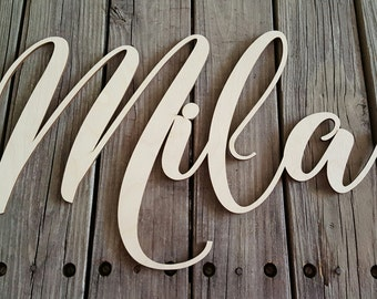 Wooden Name - Name Wall Hanging - Nursery Wall Hanging - Dorm Room Wall Hanging