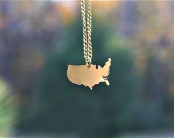 U.S.A.-state necklaces