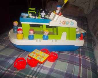vintage fisher price little people boat