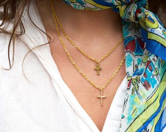 Gold Cross Necklaces simple dainty