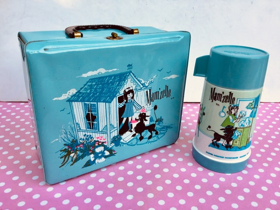 Vintage Poodle lunchbox, retro poodle, mam'zelle l