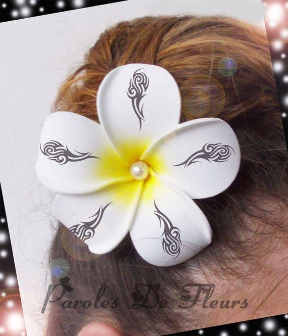 Fleur Frangipanier Fleur Exotique Tattoo Tribal Etsy