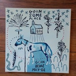 Goin Someplace Mule Outsider Original painting Art on Canvas #116