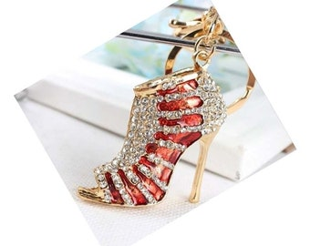Sterling Silver 3D Womans High Heel Shoe Charm
