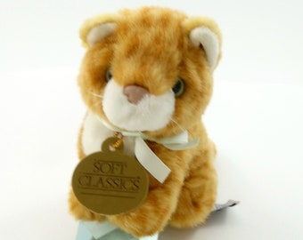 Vintage 90s Orange Cat Plushie, Cat Plush Toy, Cat Stuffed Animal, Cat Gifts, Crazy Cat Lady Gift, Baby Kitten, Kitten Plush, Kitten Gift