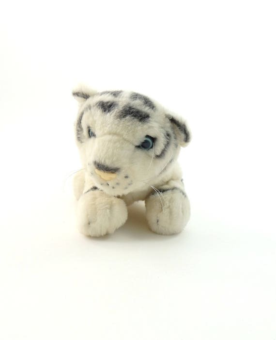 Vintage 90s White Tiger Plush White Tiger Gift Vintage White Etsy