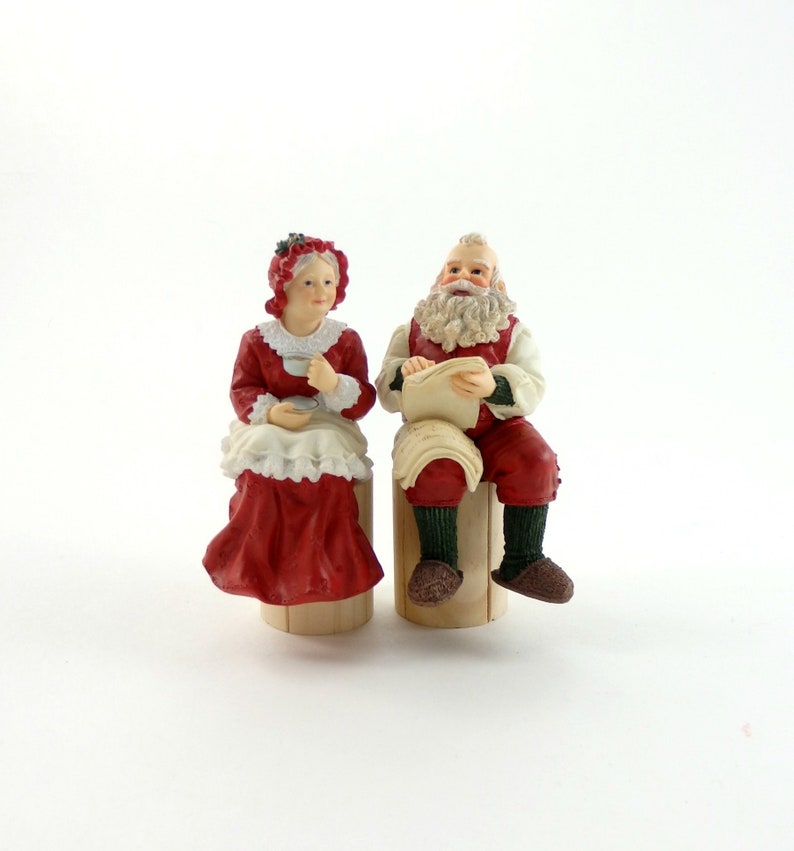 ffeb6c83 Vintage 90s House of Lloyd Shelf Sitter, Mr and Mrs Claus, Santa and Mrs  Clause, Santa Clause and Mrs Clause, Santa Ornament