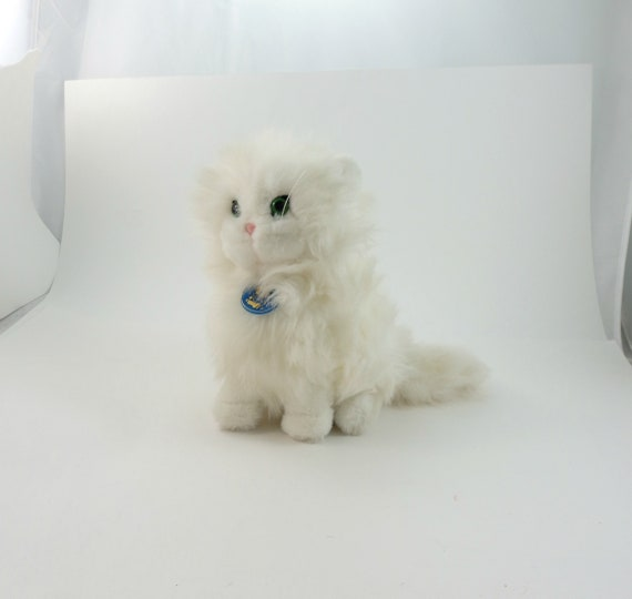 Vintage 80s Dakin White Cat Plushie Cat Plush Toy Cat Etsy