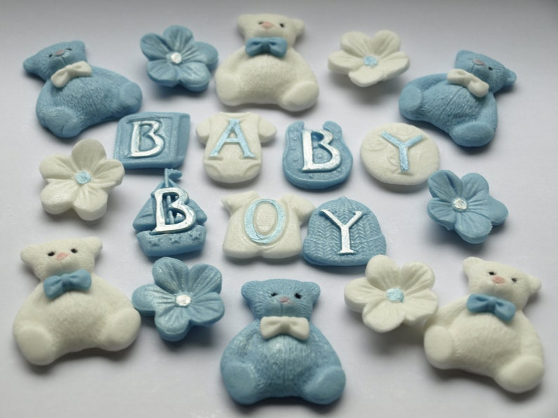 Baby Boy Edible Cupcake Toppers Baby Shower Cake Topper