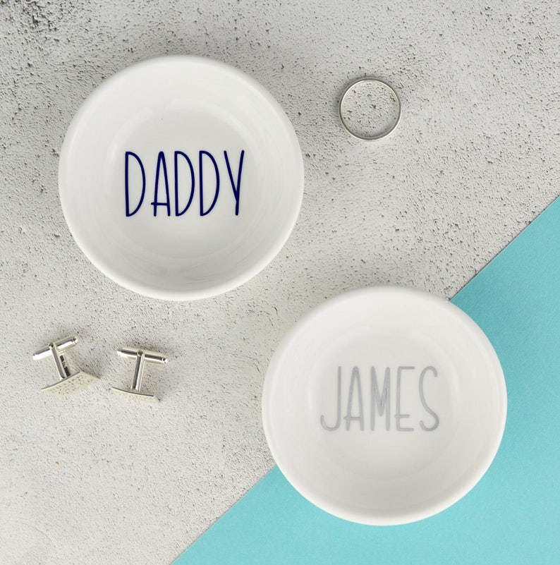 b106c4c731798 Cufflinks Dish - Personalised Dish - Dad Gift- Cufflink Holder - Mens  Jewellery Dish - Dad Cufflinks - Dad Gift