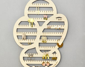 Abstract Earring Holder - Wooden Jewellery Hanger - LARGE size