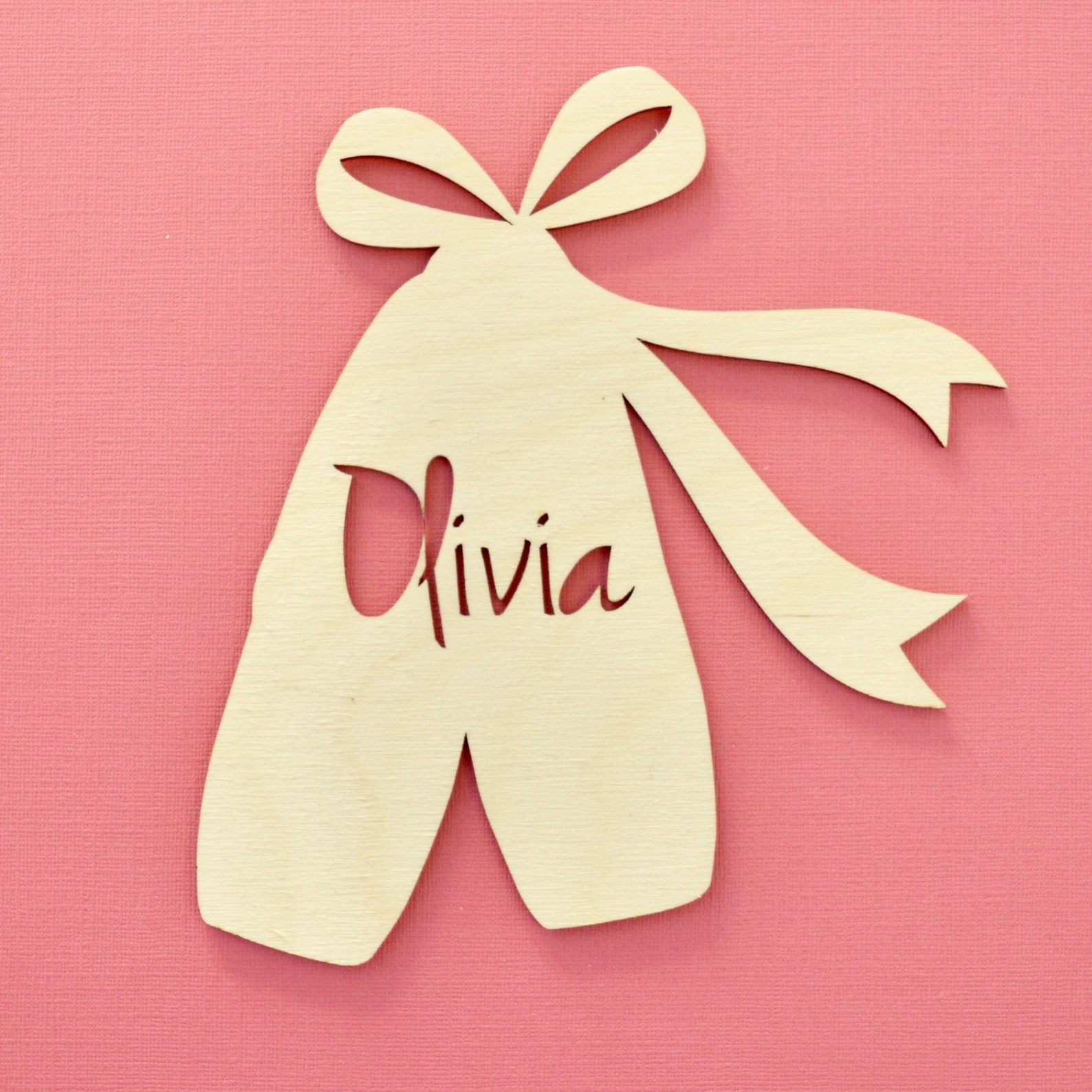 personalised ballerina door sign - ballet shoes - nursery door plaque - wooden name plaque - children's decor - girls room -