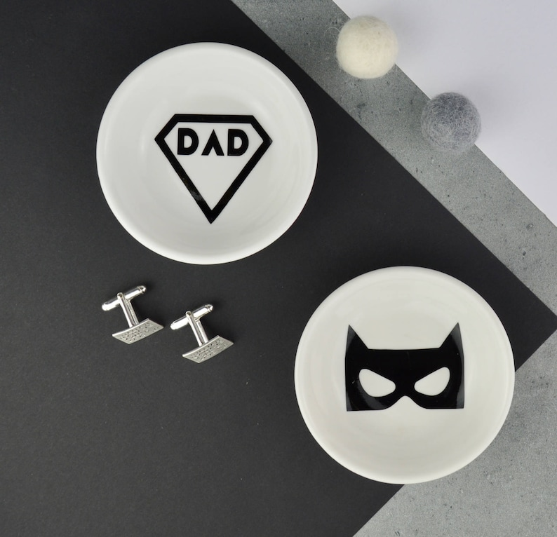 3735a36769ec5 Cufflink Dish - Super Hero Gift - Superhero Dad - Cufflink Holder - Mens  Jewellery Dish - Dad Cufflinks - Dad Gift - Superhero Mask