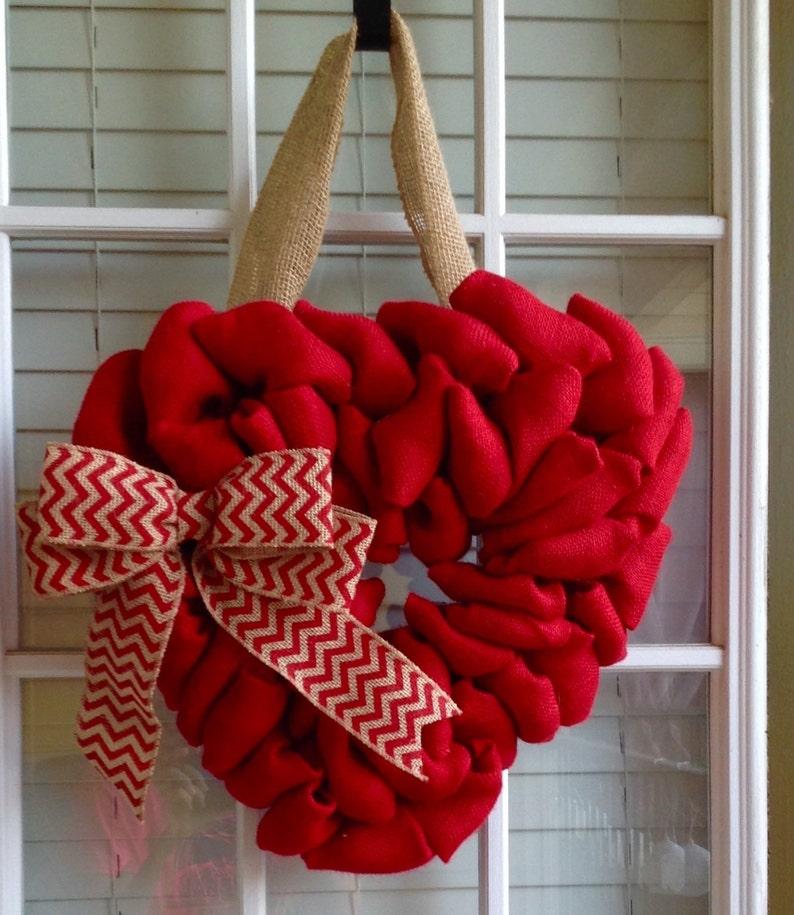 Chevron Wreath Burlap Wreath Heart Wreath Monogram Gifts Door Wreath Monogram Wreath Summer Wreath for Door Valentines Wreath