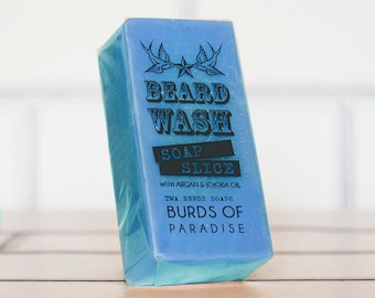 Burds of Paradise Beard Wash Soap 70g Mens Facial Care Beard Hipster Moustache Male Grooming
