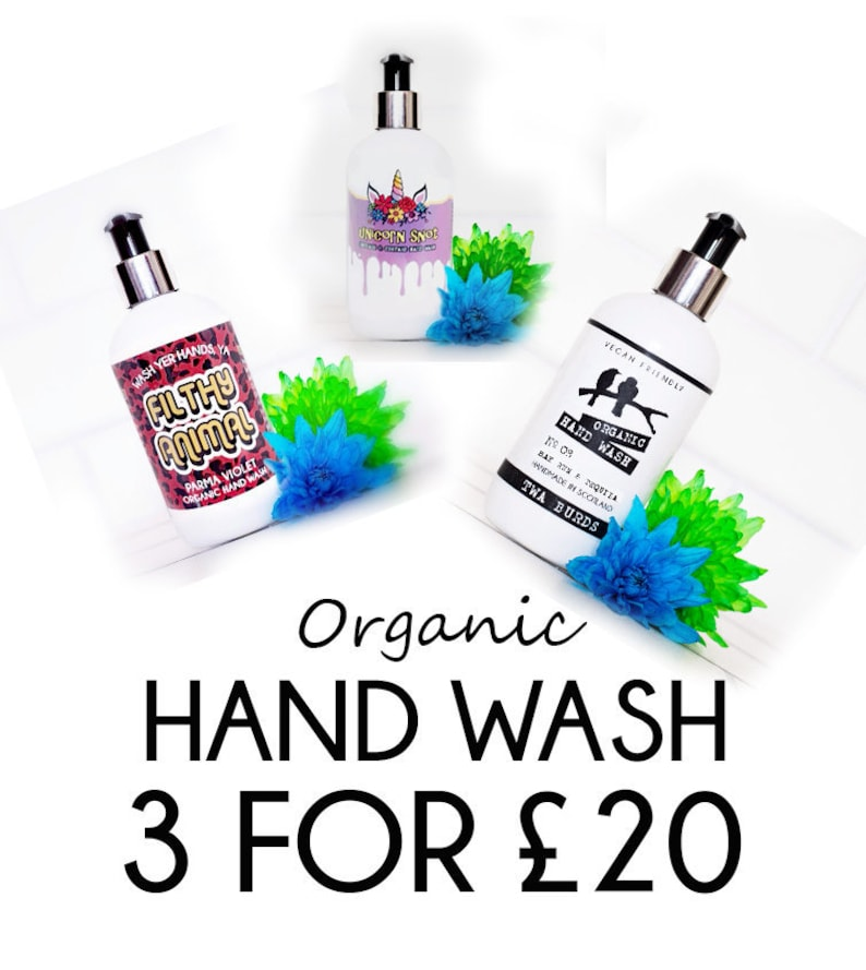 Organic Hand Wash / 3 for 20 / Special Offer / Vegan Liquid image 0