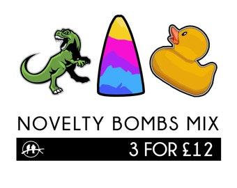 3 x Novelty Bath Bombs Mix