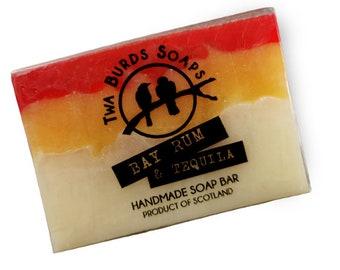 Soap Bar Vegan / Bay Rum & Tequila / SLS Free Soap / Paraben Free / Vegan Gift / Hand Body Face Soap / Stocking Filler / Man Soap / Gentle