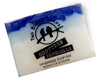 Soap Bar Vegan / Scottish Bluebells / SLS Free Soap / Paraben Free / Vegan Gift / Hand Body Face Soap / Stocking Filler / Girl Gift / Gentle