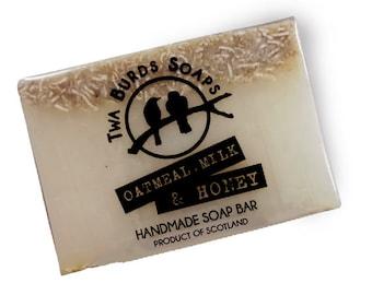 Soap Bar Vegan / Oatmeal Milk & Honey / Exfoliating Soap / SLS Free Soap / Paraben Free / Vegan Gift / Hand Body Face Soap / Stocking Filler