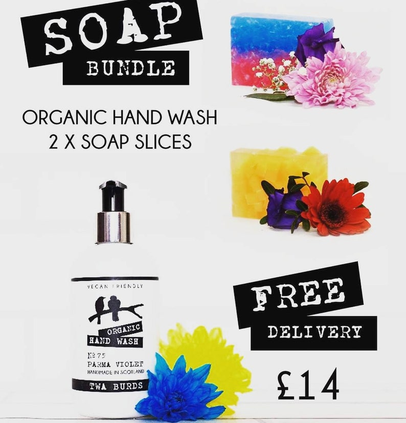 Bundle Deal Organic Hand Was and 2 x Soap Slices Free Delivery image 0
