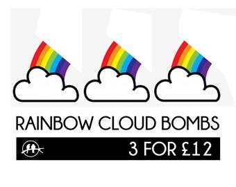 3 x Rainbow Cloud Bath Bombs.