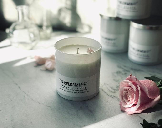 Rose Quartz Soy Candle