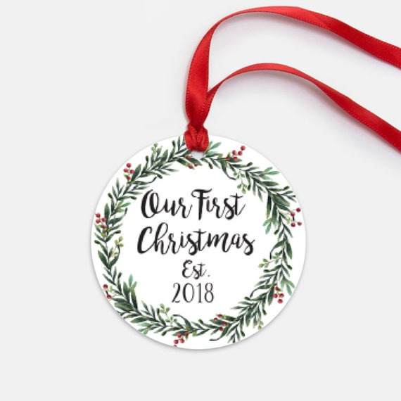 Christmas Ornament Wedding Gift: Our First Christmas Ornament Wedding Gift Anniversary Gift