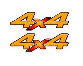 4x4 Off Road Decals Truck Bed Stickers Skull Blaze Camo Graphics 2 pack a005OR
