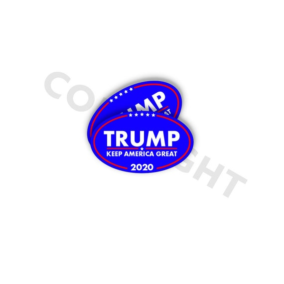 Pack of 2 Make America Great Again! Veterans for Trump Bumper Sticker