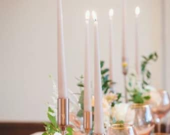 """1-3-12pc Sandstone Taper Candles/ 12""""/ Centerpieces/ Vases/ Table Decorations/Tall Candles/Blush Pink/Light Pink/Tapered Candles"""