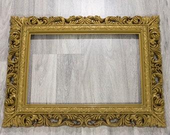 White Gold Frame Etsy