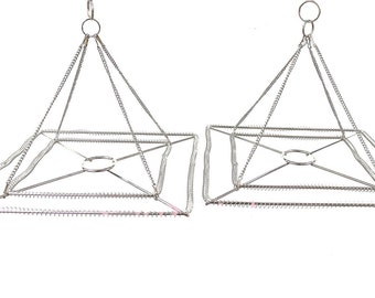 2pcs 10 or 14 w stainless steel chandelier frame etsy 2pcs 10 or 14 w square stainless steel chandelier frame wedding party centerpiece diy aloadofball Image collections