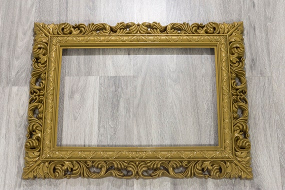 Gold and White Picture Frame/Photo Booth Prop/Wedding Decor/   Etsy