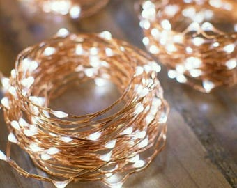 5 Meter/16 Feet Micro LED Fairy string light 5M/50 lights waterproof. Silver/Copper wire/ white light, warm white
