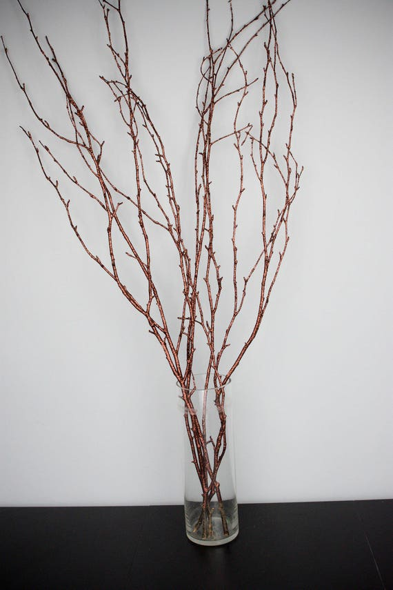 brown glitter curly twigs branches centerpiece decor winter etsy rh etsy com