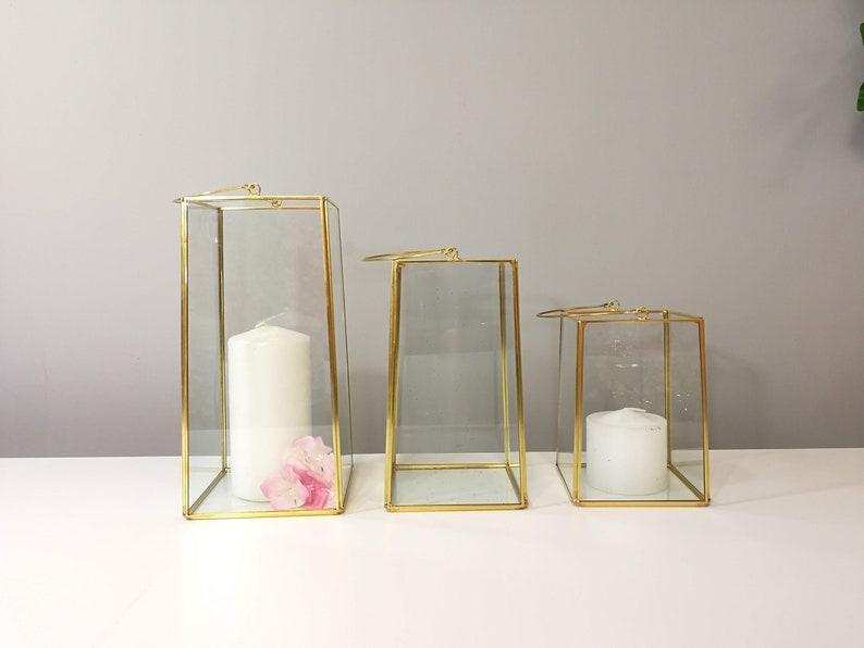 Square Lantern Glass Geometric Terrarium Wedding Table Decor Etsy