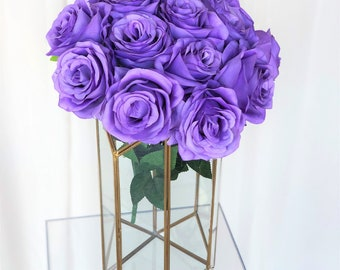 Light Purple Rose Flower Bouquet/Demurf Rose Bush/Faux Flowers/Mutiple sizes/Aisle decor/ Centerpiece/Home Decor/Yellow Flowers/Roses