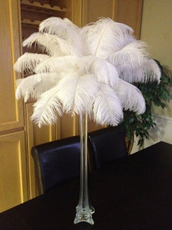 20 Tall Ostrich Feather Centerpiece Kits With Eiffel Etsy