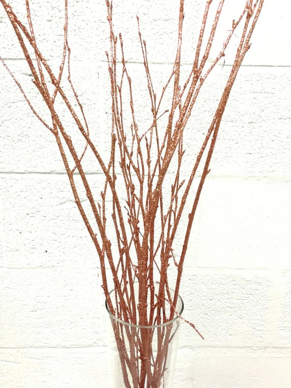 Surprising Rose Gold Branches Rose Gold Curly Twigs Branches Centerpiece Decor Decoration Branches Gold Branches Glitter Branches Silver Branches Beutiful Home Inspiration Xortanetmahrainfo
