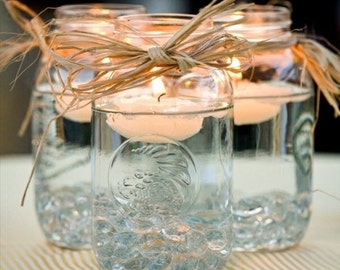 """2"""" inch Set of 12 White OR Ivory Floating Candle - unscented - 2.25"""" in Diameter for Centerpieces/ Vases/ Table Decorations"""