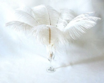"""10 Pcs 8-10"""" 10-12"""" 12-14"""" 14-16"""" 16-18"""" 20-22"""" 24-26"""" White Ostrich Feather Plume for Centrepieces and Craft!"""