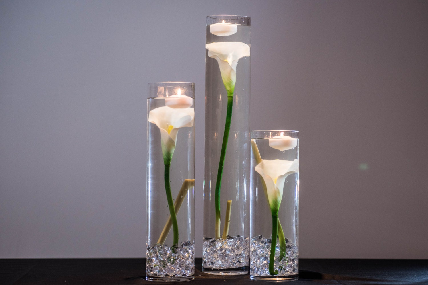 Submersible White Calla Lily Floral Wedding Centerpiece With Etsy