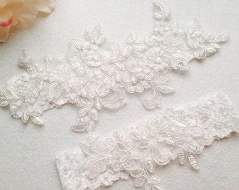 Wedding Garter , bridal garter, light Ivory garter,Tossing Garter,Keepsake Garter,Off white Lace Garter, Champagne garterA03#