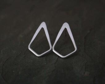 silver kite stud earrings