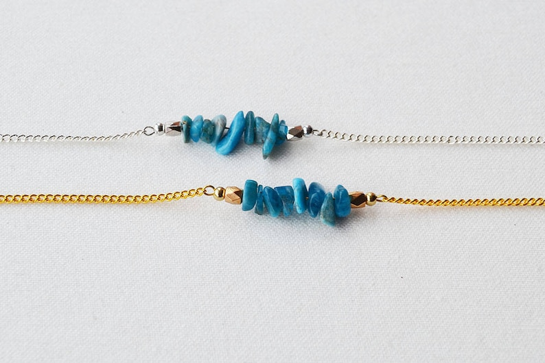 Natural Stone Necklace Blue Stone Necklace Blue Kyanite Pendant Necklace Blue Kyanite Choker . Blue Kyanite Chip Necklace